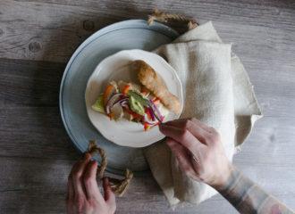Avocado Hühnchen Baguette