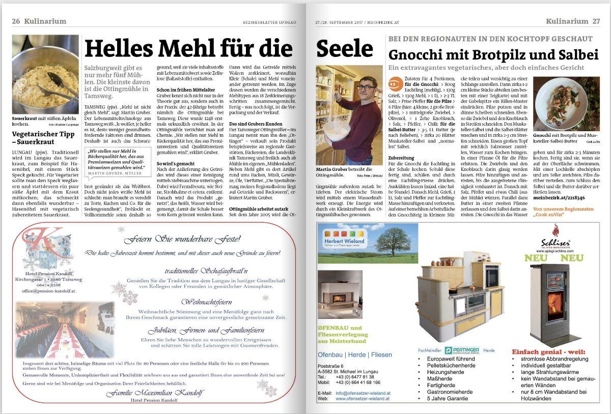 Bezirksblätter September 41 Brotpilz und Salbei