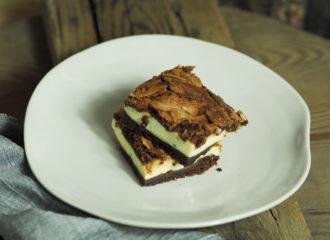 saftige Cheesecake Brownies