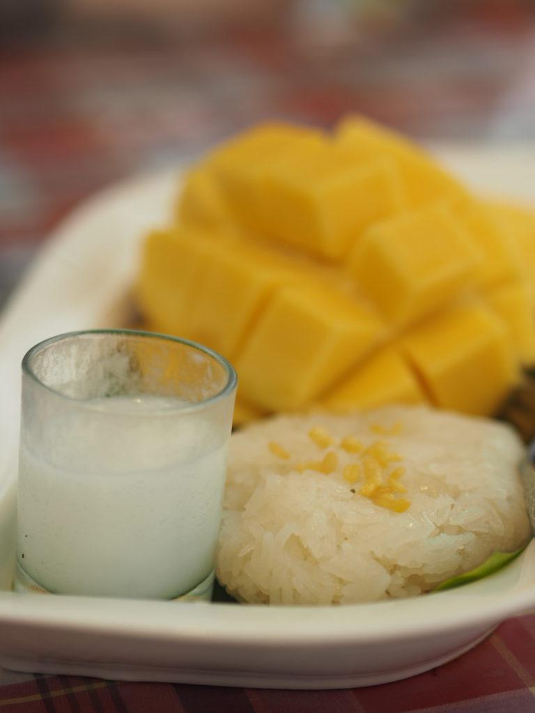 Thailändische-Küche-Mango-Sticky-Rice