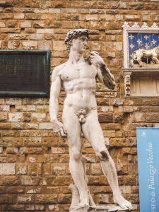 David Statue am Palazzo Vecchio in Florenz