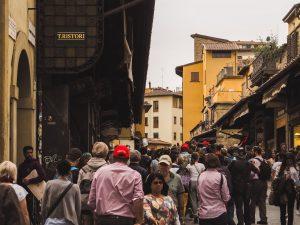 Auf der Ponte Vecchio in Florenz
